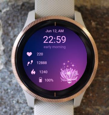 Garmin Watch Face - Lotus