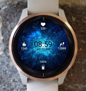 Garmin Watch Face - Blue Nebula