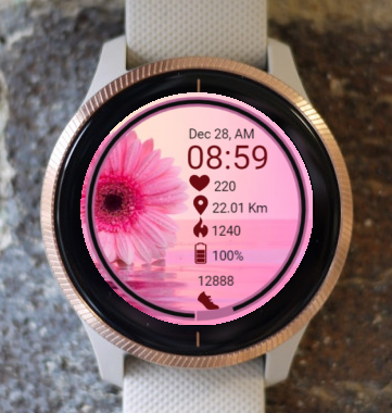 Garmin Watch Face - Flowers Roz 1