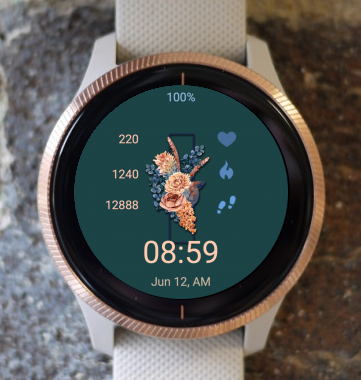 Garmin Watch Face - Wedding Bouquet