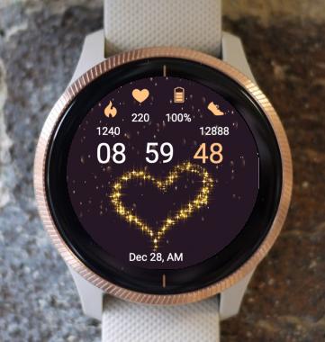 Garmin Watch Face - Star Heart