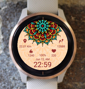 Garmin Watch Face - Mandala C4
