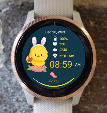 Garmin Watch Face - Easter Chicken
