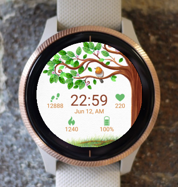 Garmin Watch Face - Tree Bird G