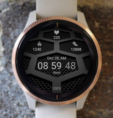 Garmin Watch Face - Black Steps