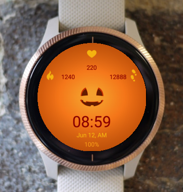 Garmin Watch Face - Pumpkin Smile