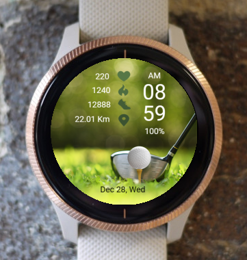Garmin Watch Face - Golf