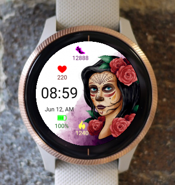 Garmin Watch Face - Dia Muertos 04