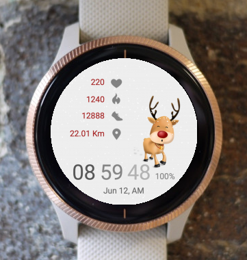 Garmin Watch Face - Rudolph