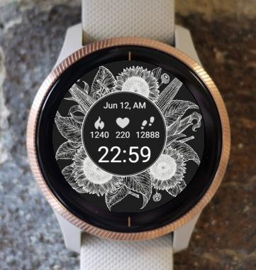 Garmin Watch Face - Dark Flower G