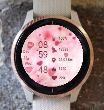 Garmin Watch Face - Hearts 01