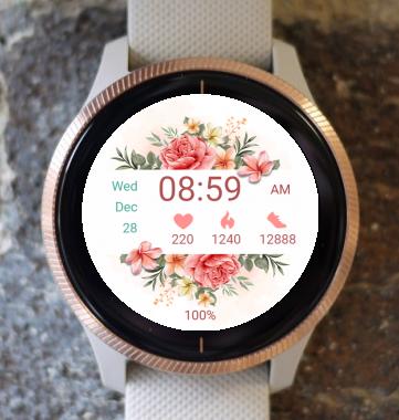 Garmin Watch Face - Love Flowers