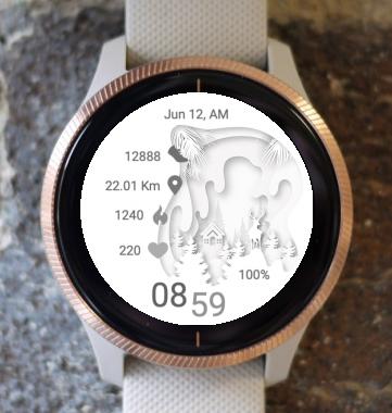 Garmin Watch Face - White One