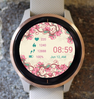 Garmin Watch Face - Pink Dream Frame