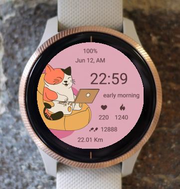 Garmin Watch Face - Kitty cat 09