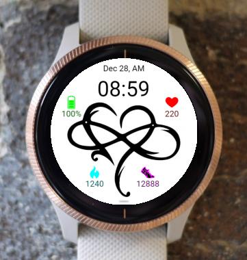 Garmin Watch Face - Love forever