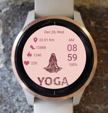 Garmin Watch Face - Yoga 02
