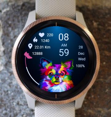 Garmin Watch Face - Pop Art Dog