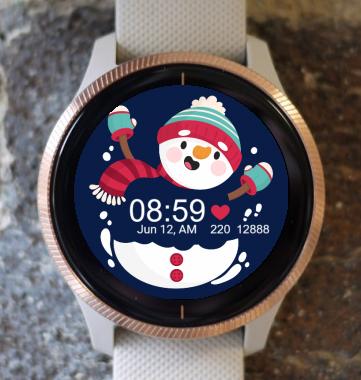 Garmin Watch Face - Happy SnowMan G