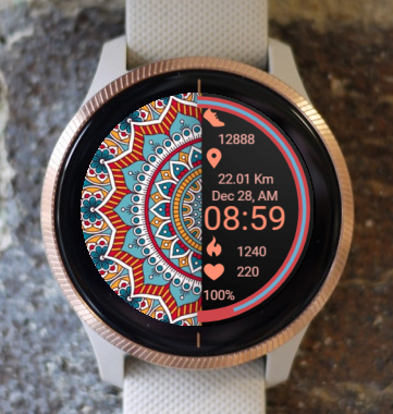 Garmin Watch Face - Peace Mandala