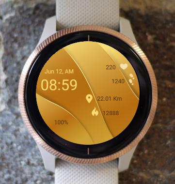 Garmin Watch Face - Gold Layers