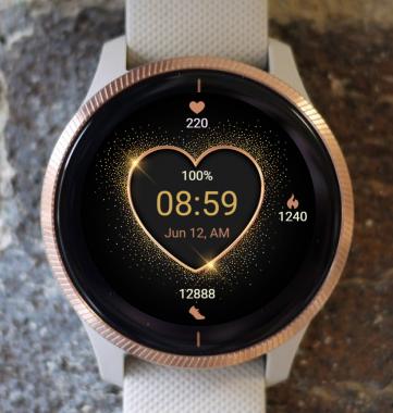 Garmin Watch Face - Golden Heart