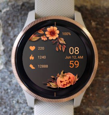 Garmin Watch Face - Orange Pumpkin