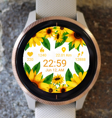 Garmin Watch Face - Sun Flower G