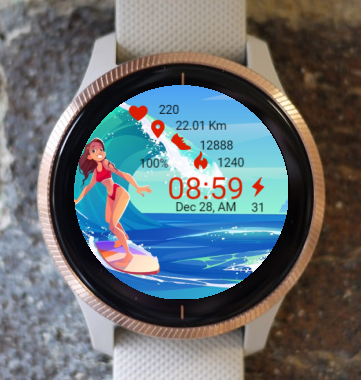 Garmin Watch Face - Summer X