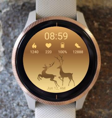 Garmin Watch Face - Golden Deers