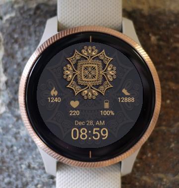 Garmin Watch Face - Mandala G8