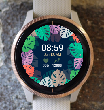 Garmin Watch Face - Rainbow Flower G