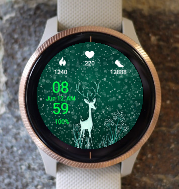 Garmin Watch Face - Deer