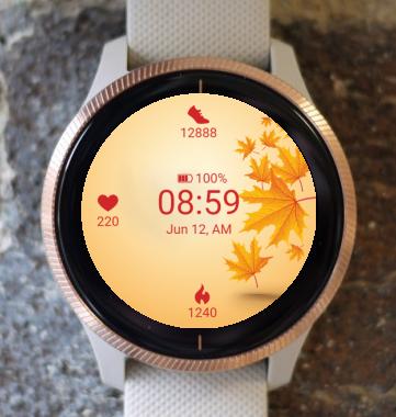 Garmin Watch Face - Warm autumn