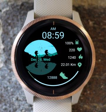 Garmin Watch Face - Hiking 01