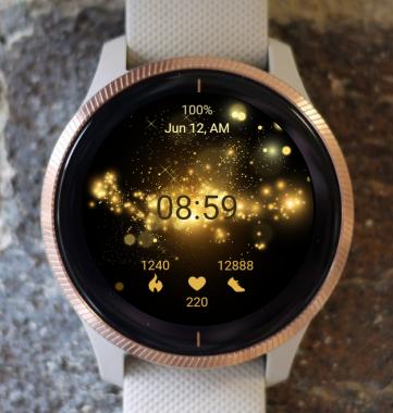 Garmin Watch Face - Gold Stars