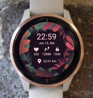 Garmin Watch Face - Dark Leaf