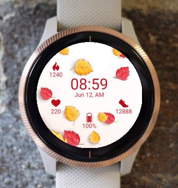 Garmin Watch Face - Autumn Leaves