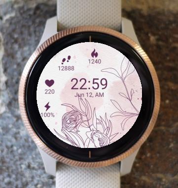 Garmin Watch Face - BW Flower 31