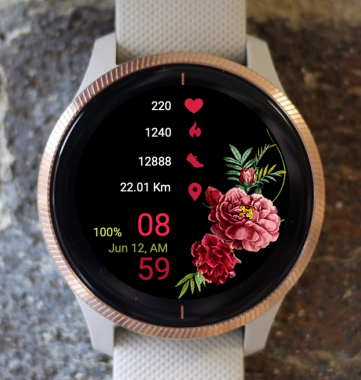 Garmin Watch Face - Flower Range