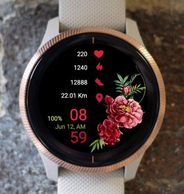 Garmin Watch Face - Flower Range
