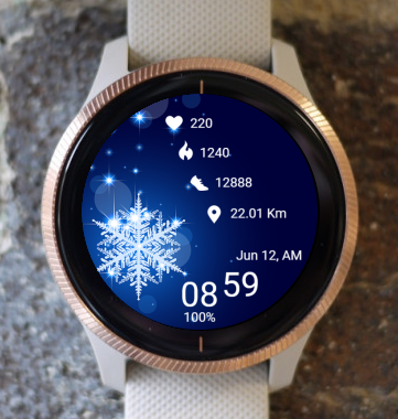 Garmin Watch Face - Snowflow