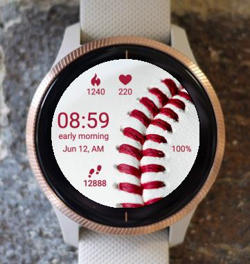 Garmin Watch Face - Red Baseball