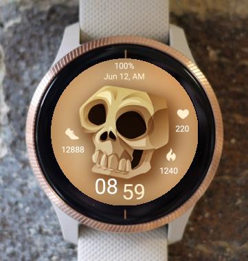 Garmin Watch Face - Skull