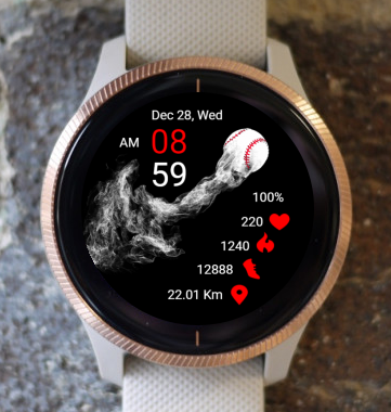Garmin Watch Face - Baseball 03