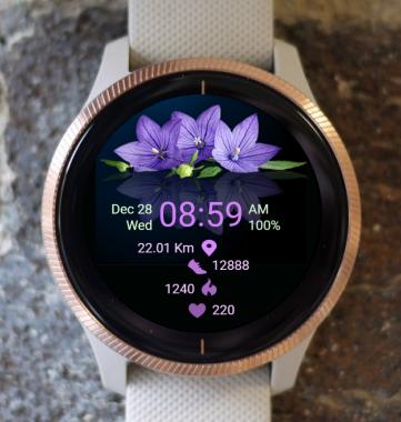 Garmin Watch Face - Purple Flower