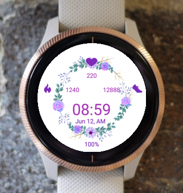 Garmin Watch Face - Lilac Flowers