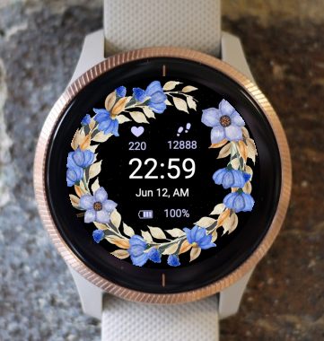 Garmin Watch Face - Autumn Flowers