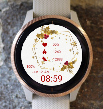 Garmin Watch Face - Christmas Gold