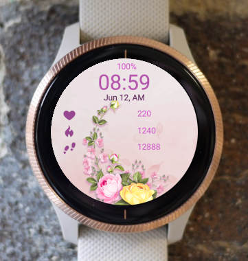 Garmin Watch Face - Flower Mood